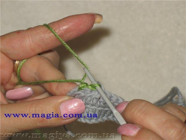 Вязание крючком выполнение рачьего шага 818