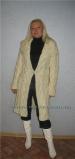 Описание: вязания спицами пальто для полных.