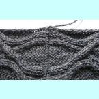 Вязание рукава сверху.